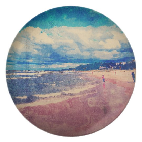 A Day At The Beach Melamine Plate
