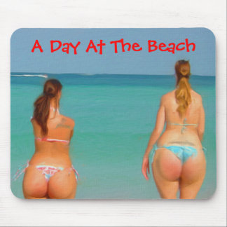 A Day At The Beach Mouse Pad
