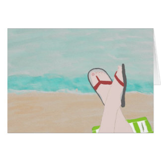 A Day at the Beach Note Card