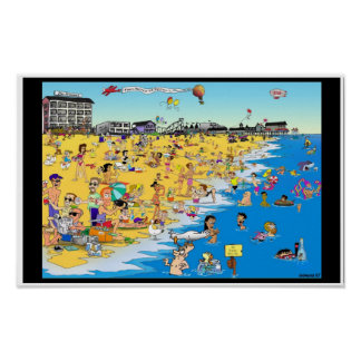 A day at the Beach. Old Orchard Beach, Me. Poster