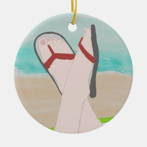 A Day at the Beach Ornament