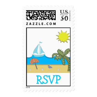 A Day At The Beach Party Postage