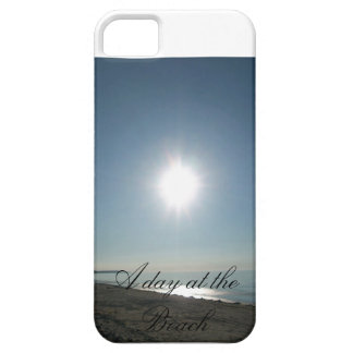 A day at the beach phone case