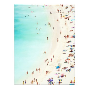 Art Themed A Day At The Beach Photo Print