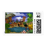 A Day at the Beach Postage Stamp