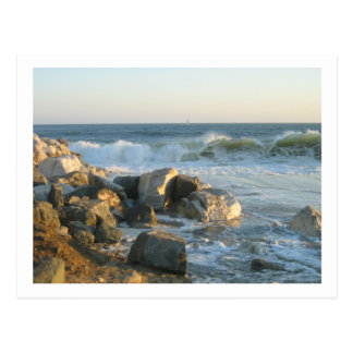 A day at the beach postcard