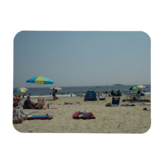 A Day At The Beach Rectangular Magnets