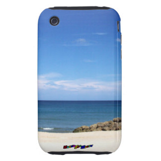 A Day At The Beach - vertical Tough iPhone 3 Covers
