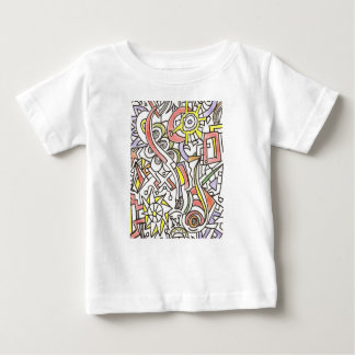 A Day At The Beach-Whimsical Abstract Art Baby T-Shirt