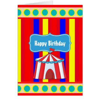 A Day at the Circus Kids Party Personalized Card