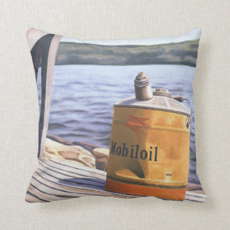 A Day at the Lake 1996 Throw Pillow