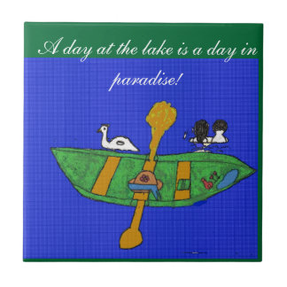 A Day at the Lake Ceramic Tile