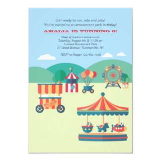 A Day At The Park 5x7 Paper Invitation Card
