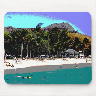 A Day at Waikiki Beach Mousepad