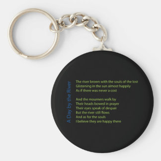 A Day by the River Basic Round Button Keychain