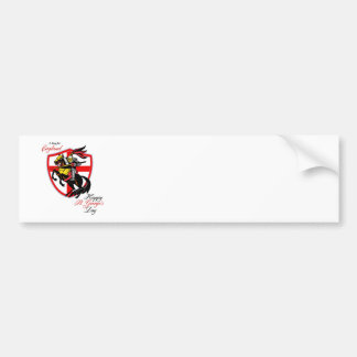 A Day For England Happy St George Day Retro Poster Bumper Sticker