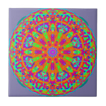 A Day for Me Mandala Design Ceramic Tile