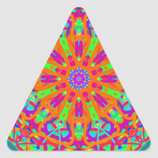A Day for Me Mandala Design Triangle Sticker