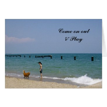 Beach Themed A day frolicking on the beach card