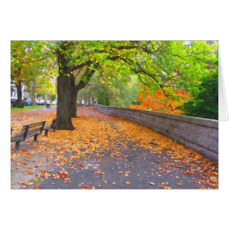 A DAY IN AUTUMN NOTECARD