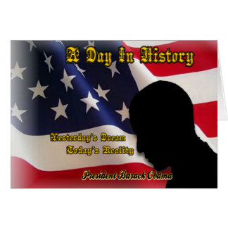 A Day In History Obama Inauguration Gifts Card