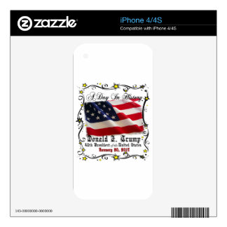 A Day In History Trump Pence Inauguration iPhone 4 Decals
