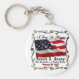 A Day In History Trump Pence Inauguration Keychain