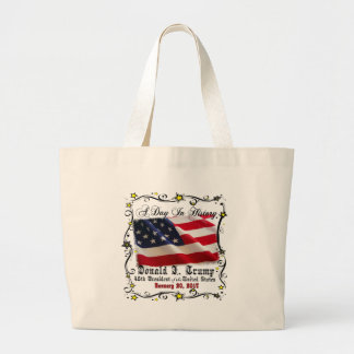 A Day In History Trump Pence Inauguration Large Tote Bag