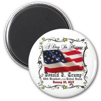 A Day In History Trump Pence Inauguration Magnet