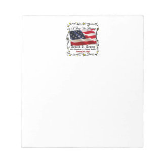 A Day In History Trump Pence Inauguration Notepad