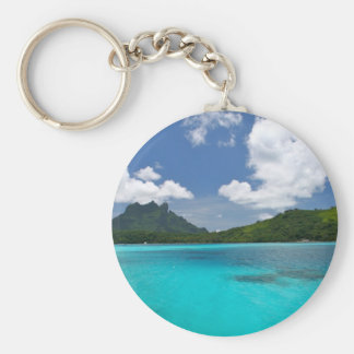 A Day in Paradise Basic Round Button Keychain