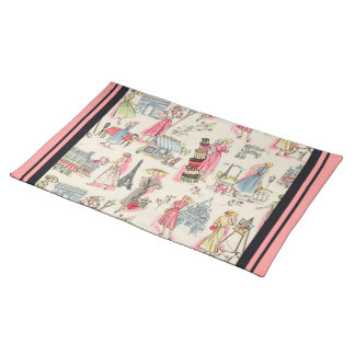 A Day in Paris Cloth Placemat