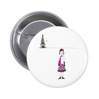 A day in Paris France 2 Inch Round Button