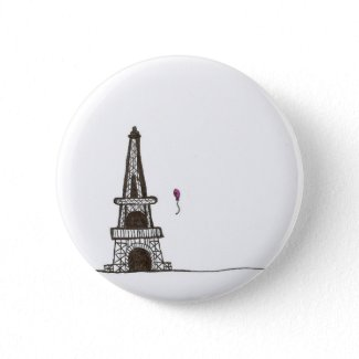 A day in Paris France button