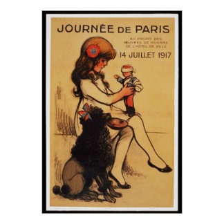 A Day in Paris (in 23 sizes) Poster