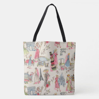 A Day in Paris Tote Bag