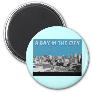 A Day In The City 2 Inch Round Magnet