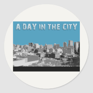 A Day In The City Classic Round Sticker