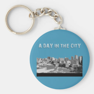 A Day In The City Keychain