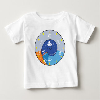 a day in the life of a boyish charm kid clock baby T-Shirt
