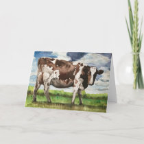 A Day in the Life of a Cow Thank You Card