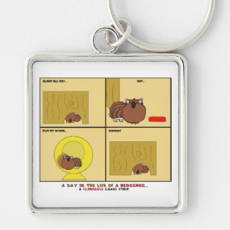 A Day in the Life of a Hedgehog Schnozzle Comic Keychain