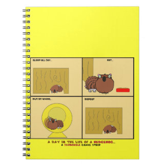A Day in the Life of a Hedgehog Schnozzle Comic Notebooks