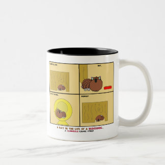 A Day in the Life of a Hedgehog Schnozzle Comic Two-Tone Coffee Mug
