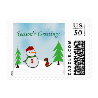 A day in the snow postage