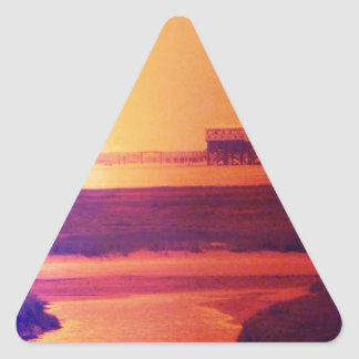 A day on the beach triangle sticker