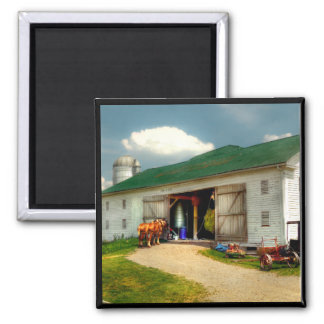 A Day on the Farm 2 Inch Square Magnet