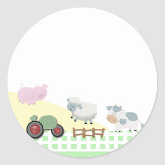 A Day on the Farm Envelope Seals Stickers