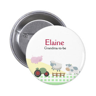 A Day on the Farm NAME TAG Personalized Button
