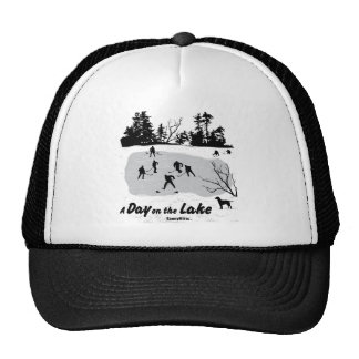 A Day on the Lake Hockey Trucker Hat